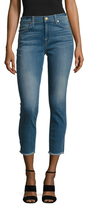 7 For All Mankind Gwenevere Raw Hem Ankle Skinny Jean