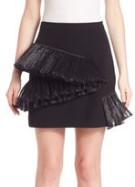 Opening Ceremony Ruffle Stone Mini Skirt