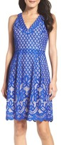 Adrianna Papell Women's Floral Lace Fit & Flare Dress