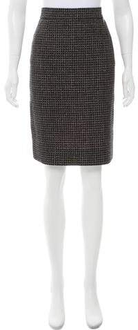 Chanel Metallic-Accented Tweed Skirt w/ Tags