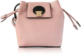 Vivienne Westwood Opio Pink Saffiano Large Mini Bucket Bag