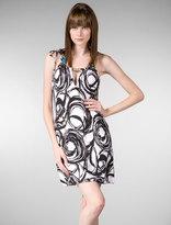 Brushstroke Swirl Cover Up Dress in Black