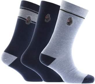 Luke 1977 Three Pack Bovey Gift Set Socks Blue