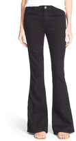 Current/Elliott 'The Low Bell' High Rise Flare Jeans (Jet Black)