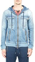 Balmain Zip-Up Denim Sweatshirt