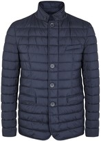Herno Dark Blue Waterproof Shell Jacket