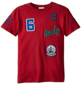 Dolce & Gabbana Embroidered Short Sleeve Baseball T-Shirt (Big Kids)
