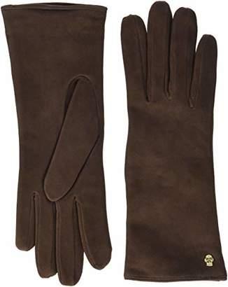 Roeckl Women's Edelklassiker Velours Gloves,6