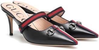 Gucci Emma leather mules