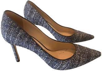 Jimmy Choo Romy Blue Tweed Heels