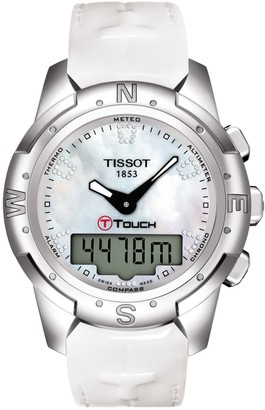 Tissot Women's T-Touch II Leather Watch, 43.3mm