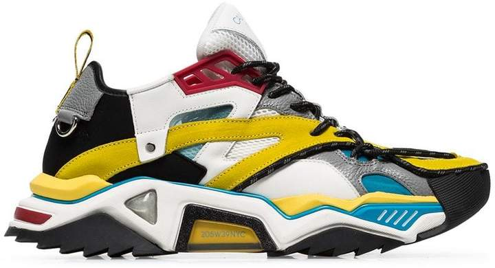 Calvin Klein multicoloured Strike 205 suede and leather trim sneakers