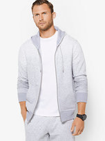 Michael Kors Zip-Up Heathered Cotton Hoodie
