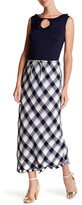 Max Studio Bias Cut Plaid Skirt