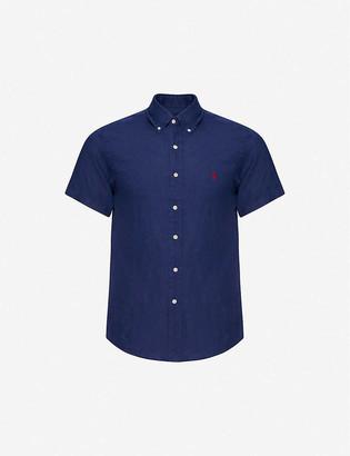 Polo Ralph Lauren Logo-embroidered short-sleeved linen shirt
