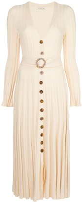 Nicholas Front Button Pleated Dress