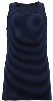 Haider Ackermann Striped Wool Tank Top - Black Blue