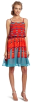 Calvin Klein Jeans Women's Petite Square Ikat Print Dress