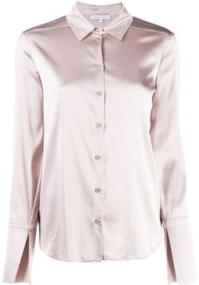 Patrizia Pepe Split-Cuff Satin Shirt