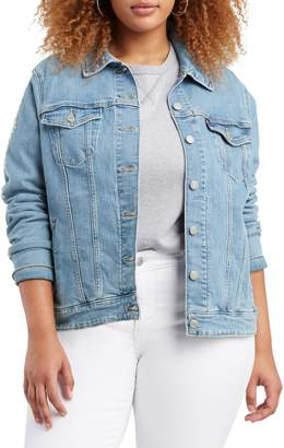 Levi's Plus Classic-Fit Embroidered Denim Trucker Jacket