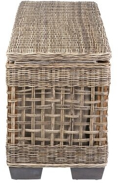 Rosecliff Heights Michaud Wicker Shoe Storage Bench
