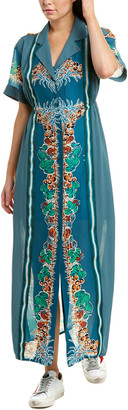 Anna Sui Tropical Fruit Silk Maxi Dress