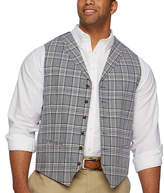 STAFFORD Stafford Plaid Classic Fit Suit Vest - Big and Tall