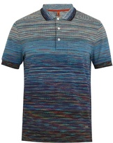 Missoni Striped Cotton-piqué Polo Shirt