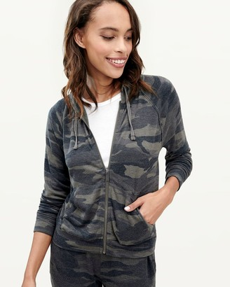 Splendid Zip Up Hoodie in Camo