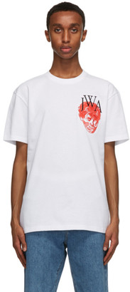 J.W.Anderson White Embroidered Face JWA T-Shirt