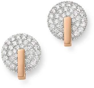 Roberto Coin 18K Rose Gold Diamond Disc Stud Earrings