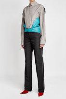 Balenciaga Hybrid Shirt with Leather