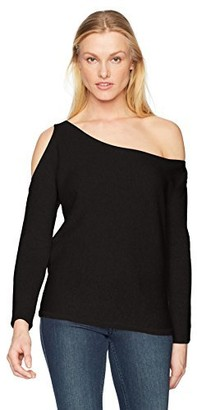 Minnie Rose Women's 100% Cashmere Open Shoulder Sweater
