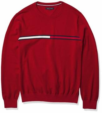 Tommy Hilfiger Men's Stripe Crewneck Sweater