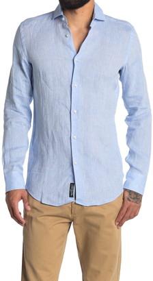 HUGO BOSS Jason Linen Slim Fit Shirt