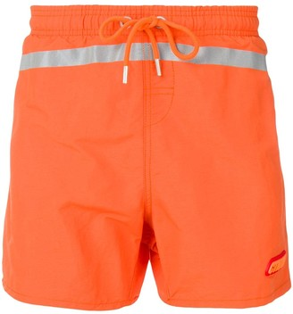 Heron Preston reflective stripe swim shorts