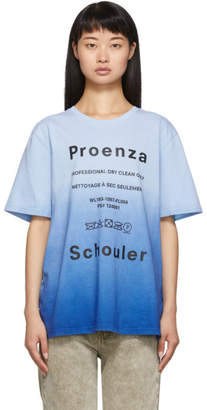 Proenza Schouler Blue Care Label T-Shirt