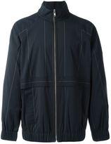Alexander Wang graphic line sports jacket - men - Nylon/Polyester/Spandex/Elastane/Wool - 46