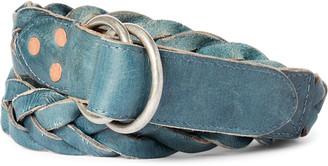 Ralph Lauren Braided Indigo Leather Belt