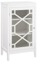 Gerke Wooden 1 Door Accent Cabinet Highland Dunes Color: White