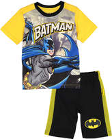 Children's Apparel Network Batman Black & Yellow Tee & Shorts - Toddler & Boys