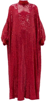 Ashish Sheela Embellished Sequinned-georgette Tent Dress - Womens - Fuchsia