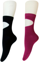 Dasein Tessa Cut-Out Socks