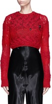 Helmut Lang Mixed open knit cropped sweater