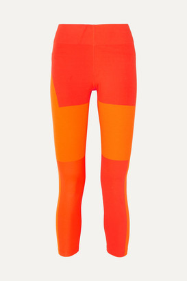 Nike Tech Pack Cropped Cutout Paneled Stretch Leggings - Orange