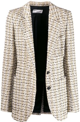 Victoria Beckham Tweed-Effect Blazer