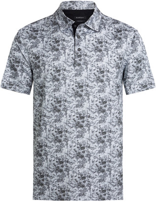 Bugatchi Men's Abstract-Print OoohCotton Tech Polo Shirt