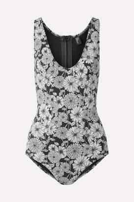 Lisa Marie Fernandez Garance Printed Bonded Swimsuit - Black