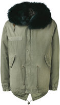 Mr & Mrs Italy - fox fur trim hooded jacket - men - Cotton/Lamb Skin/Polyester/Viscose - S