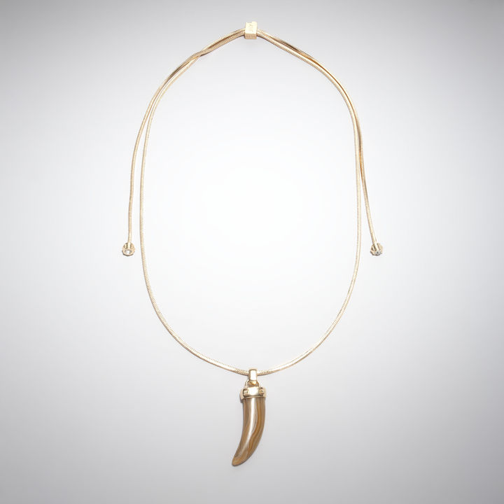 Jones New York Long Beige Horn Necklace